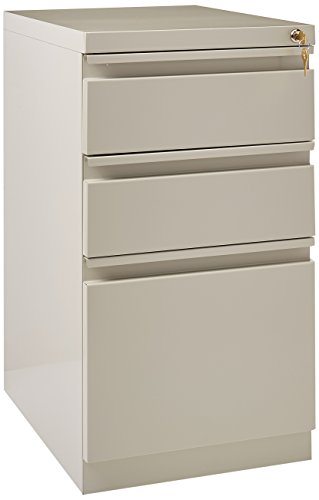 Hirsh Commercial Grade 20 Inch Deep Full Extension 3 Drawer File Cabinet in Light Gray ()