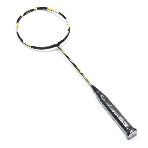 YTech Japan AT700 carbon yarn M30 combination single badminton racket with full carbon fiber, foamed solid core frame,4U(80-84 g) offensive,durable and ultra-light badminton racket (1pcs 9.34oz)