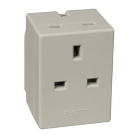 3 Way Electrical Mains Adaptor 13Amp Fused Plug: Amazon.co.uk: DIY ...