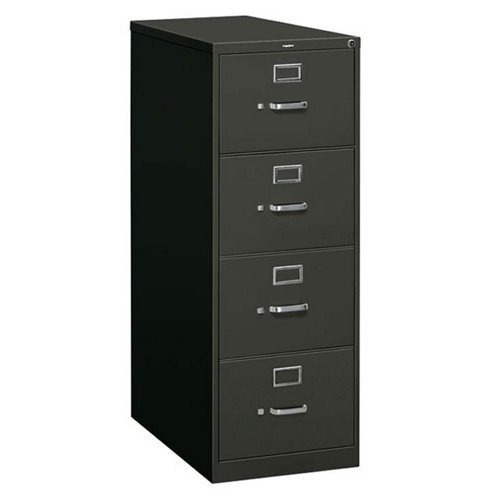 310 Series 4-Drawer, Full-Suspension File, Letter, 26-1/2d, Charcoal