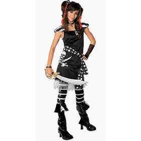 Amazon.com Drama Queens Scar-let Pirate Teen Halloween Costume Size 0-2 Small Toys u0026 Games