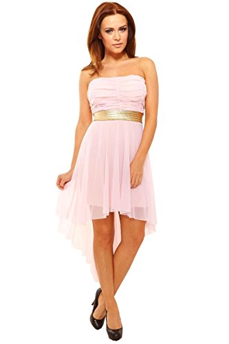 Sexy Vokuhila Kleid Partykleid Abendkleid Cocktailkleid aus Feintüll ...