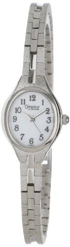 Caravelle by Bulova Women's 47E05 Bracelet White Dial Watch