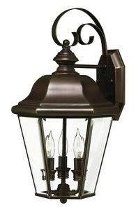 Hinkley 2424CB Traditional Three Light Wall Mount from Clifton Park collection in Copperfinish,