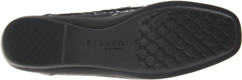 Aravon Mujeres Whitney Slip-on Black Croc