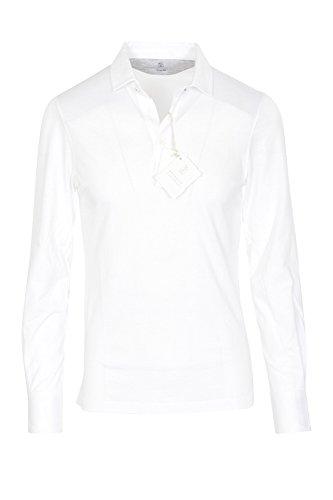 Brunello Cucinelli Polo Poloshirt Herren Weiß Slim Fit Baumwolle Casual XS
