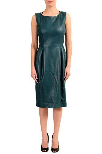 677d31348a6 Gucci 100% Leather Sleeveless Women s Sheath Dress Size US L ...