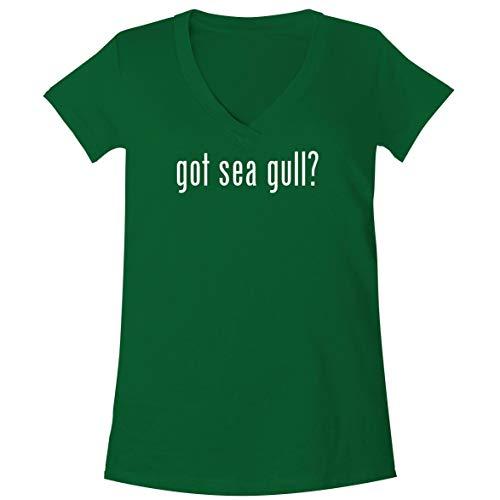 The Town Butler got sea Gull? - A Soft & Comfortable Women's V-Neck T-Shirt, Green, Large