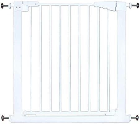Huo Blanco Easy Install Metal Baby Gate Barrera de Seguridad for Niños for Escaleras (Size : Width 92-100cm): Amazon.es: Hogar