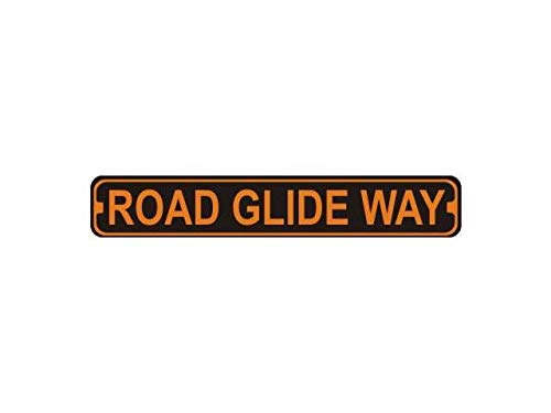Fhdang Decor Road Glide Way Novelty Metal Harley Street Sign,Metal Sign, 4