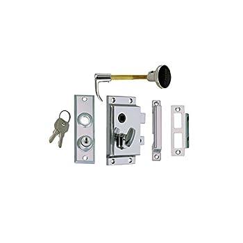 Image of Boat Trailer Accessories Perko 0919DP0CHR Rim Lock Set - Reverse with Flush Strike