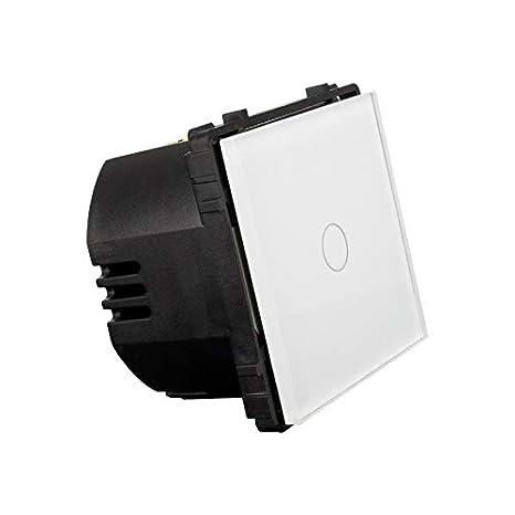Interruptor Táctil Simple Regulador Conmutado Remoto Blanco efectoLED: Amazon.es: Iluminación