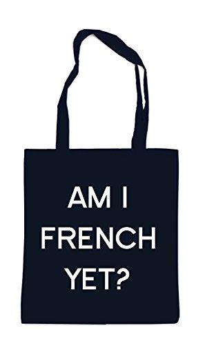 Am I French Yet Bag Black