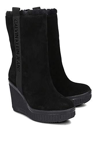 Femme Jeans Calvin Black Noir Klein 000 Suede Shuana Botines qvq64Pzw