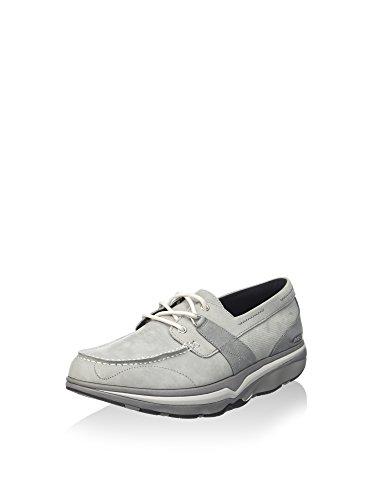 BOAT grigio 700415 scarpe uomo KWELI MBT lacci Grigio pelle SHOE Chiaro AS6FwZEnxq