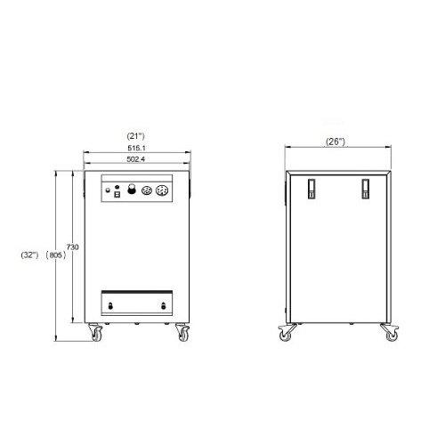 California Air Tools 8010dspc Ultra silencioso y sin Aceite compresor de aire 1.0 HP 8.0 3 litros depósito de acero con secador de aire en sonido prueba ...