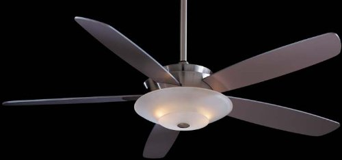 Minka-Aire F598-BN, Airus, 54'' Ceiling Fan with Light, Brushed Nickel