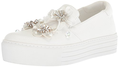 (Kenneth Cole REACTION Women's Cheer Floral Platform Sneaker, White, 8.5 M US)