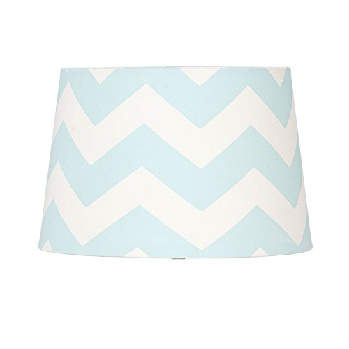 Lolli Living Aqua Zig Zag Lamp Shade. Chevron Lamp Shade for Baby Nursery Accent (10x10x7 inch). by Lolli Living