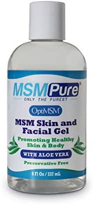 Kala Health MSMPure Max Strength Skin and Facial MSM Gel with Organic Aloe, Preservative Free, Made in The USA, 8 oz