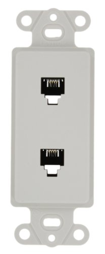 White Terminal Dec (Leviton 40644-W Decora Insert, White)