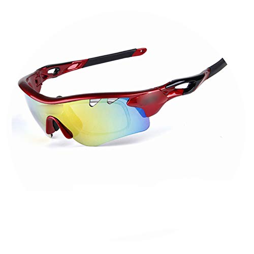 Polarized Cycling Glasses 5 Lens Windproof Anti-Fog with Frame Sport MTB Bike Bicycle Riding Goggles,Z1