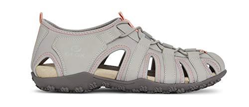 D9225a Esterni punta Donna Sandali sandali Trekking Sandali Geox signora Sandal Grey Chiusa Sportivi Lt Strel sandali Da OEAAwvqn