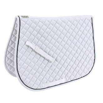 Saddlery Pads - Dover Saddlery Quilted All-Purpose Piped Saddle Pad, A/P, White/Black/White