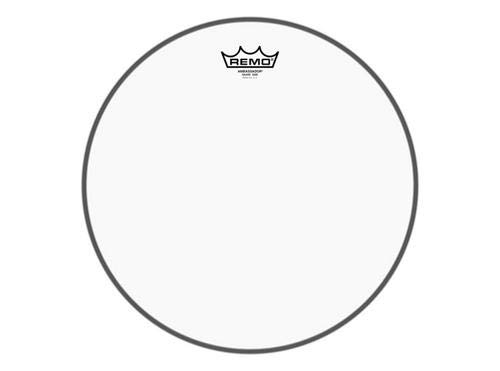 Remo SA0314-TD Clear Ambassador Marching Snare Side Drum Head (14-Inch) - No Collar
