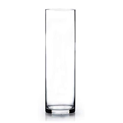 WGV Clear Cylinder Glass Vase/Candle Holder - 3