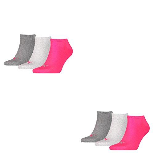 Chaussettes 656 De Middle pink Tobilleros Puma Grey Sneaker Mélange 6 Invisible Unisexe Pack Eqx8A