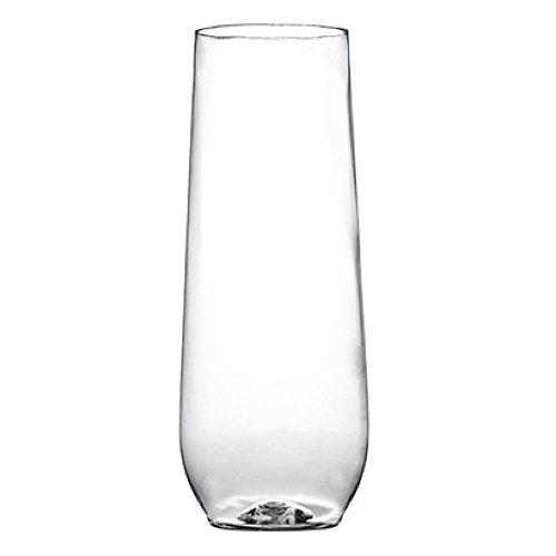 [ 10 oz Set of 16] Kast Stemless Champagne Flutes | Plastic Champagne Flutes | Unbreakable Disposable Champagne Flutes | Champagne Flutes Wedding Parties Toasting Glasses ()