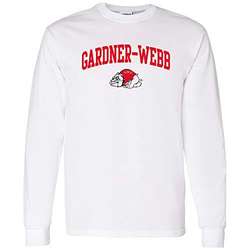 UGP Campus Apparel AL03 - Gardner-Webb Bulldogs Arch Logo Long Sleeve - Large - White