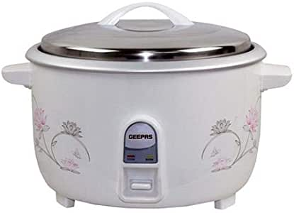 Geepas Grc4322, Electric Rice Cooker, White, Plastic Material