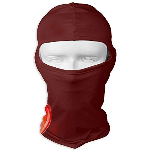 Balaclava Personalized Valentine's Day Background Full Face Masks UV Protection Ski Cap Womens Neck Warmer for Cycling ()