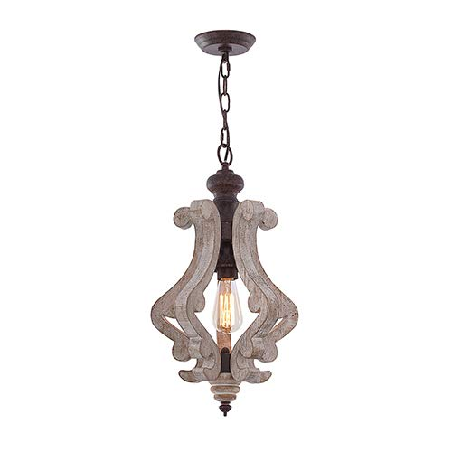 HMVPL Wooden Pendant Lighting Fixtures, Farmhouse Swag Chandeliers Industrial Hanging Ceiling Lamp for Kitchen Island…