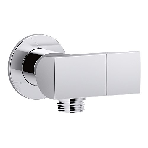 KOHLER K-98354-CP Exhale Wall-Mount Supply Elbow with Check Valve & Handshower Bracket, Polished Chrome