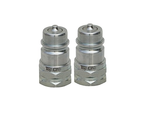 TL37-M 2 pack Ag Quick Coupler Male Nipple - Poppet Style Hydraulic Tractor Coupling - Iso5675 1/2