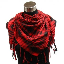 Houndstooth-Square-Shawl-40×40-Red-Black