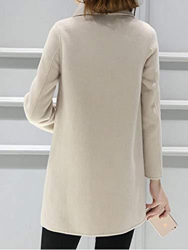Inverno Outwear Beige Cappotto Doppio Fit donne Petto Howme lungo Medio Autunno wSqRxEz