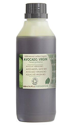 Bio Avocadoöl - 100% reines kaltgepresstes Basisöl - Organisch zertifiziert - 500ml