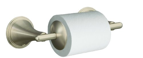 KOHLER K-361-BN Finial Traditional Toilet Tissue Holder, Vibrant Brushed Nickel