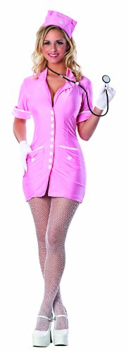 Delicious Hospital Hottie Costume, Pink/White, Small - Ny Themed Costumes