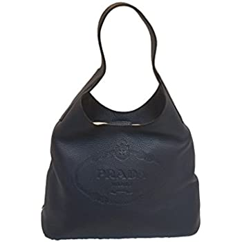 8f90cfcd8d26 Amazon.com: Prada Vitello Daino Navy Blue Hobo Designer Handbag for ...