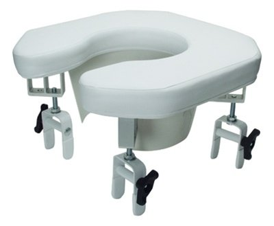 Lumex Multi-Position Open Padded Raised Toilet Seat, 1EA