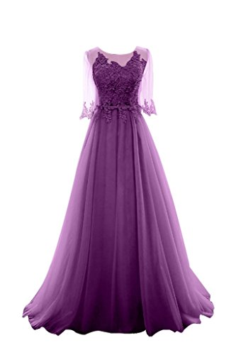 Damenmode Hochwertig Damen Abendkleider Spitze Violett Celebrity Lang Damen Grau Charmant Hell Ballkleider zpqT5Wx