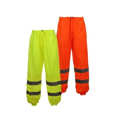 Class E Standard Hi Vis Safety Mesh Pants (L/X-Large, Orange)