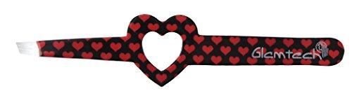 Glamtech Serious Tweezers Heart Eyebrow Precision Slant Tweezers, - Tweezers Heart
