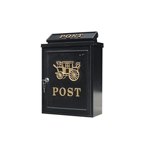 Horse Residential Post Mount - SYDDP Mailboxes European Letter Box Outdoor Rainwater Villa Mailbox Wall Hanging Lock Postbox Large Rural Creative Letter Box Mailbox Suggestion Boxes