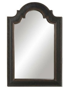 Uttermost 01760 P Ribbed Arch - Frame, Crackled Black and Gold Finish